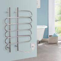 Cheap CUSTOMIZED 80w Stainless Steel Wall Mounted Electric Heated Towel rail For washroom for sale