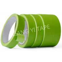 Quality Green Heat Resistant Insulation Tape , Crepe Paper Automotive Adhesive Tape wholesale