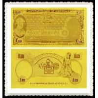 Cheap Australia Gold Banknote Old AUD 5 Cents Pure 24K Gold Foil Plated Value Collectable for sale