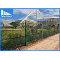 Invisible Security 358 Steel Panel Fence , PVC Coated Wire Mesh Panels