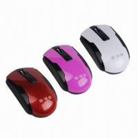 China 2.4GHz Wireless Computer Mice with 2-way Communication, Low-battery Indicator on sale