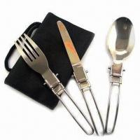 Cheap Cutlery Set for Picnic, Made of Stainless Steel for sale