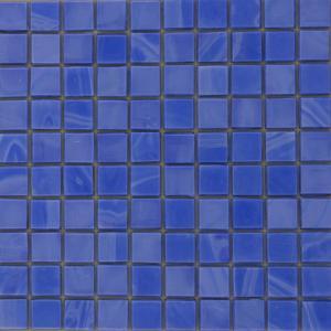 China 2mm Ceramic Jade Glass Mosaic Tiles , Swimming Pool Floors Tile on sale