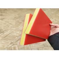 Cheap red/yellow/red color three sandwich layers hdpe virgin plastic sheet 15mm thick for sale