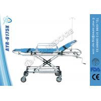 China Adjustable Stainless Steel Bariatric Ambulance Stretcher With PU Cover Mattress on sale