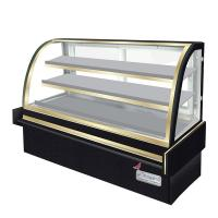 Cheap Curved Glass Cake Display Counter Chilled Food Display Cabinets Customized for sale