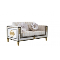 China Spanish Style Wooden Design Royal Furniture fabric Upholstery latest modern Contemporary Sofa Set on sale