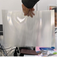 Cheap OK3D factory manufacture 0.9mm 70LPI PET Lenticular Sheet for 3d lenticular printing by injekt print and UV offset print for sale
