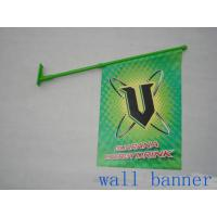 Cheap Custom PVC Wall Mounted Shop Front Flags With Pole Dye Sublimation for sale