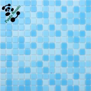 China MB SMH16 Swimming Pool Wholesale Glass Mosaic Blue Mosaic Pool Tile Cheap Pool Tile on sale