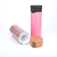 Cheap Portable Ceramic Liner 0.48L Thermos Insulated Cup for sale