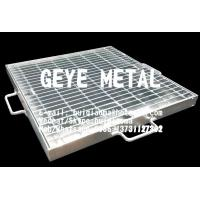 China Hinged & Locked Mesh Gratings, Hinged Steel Grill Grates, Floor Drain Covers, Gully Guttering Metal Grids on sale