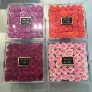 Cheap Beautiful transparent acrylic flower box,custom made display acrylic flower box for sale