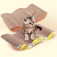 Cheap Catnip Inside Cardboard Scratching Recycled PadNon - Toxic Corn Starch Glue for sale