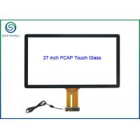 Buy cheap 27 Inch PCAP Touch Glass Kit with USB Controller For Capacitive Touch Monitors from wholesalers