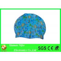 China Sea Animal Silicone Customized Swim Caps for Long Hair , Swimming Pool and Sports Center Use on sale