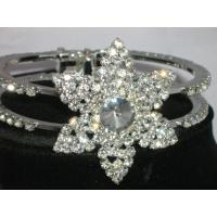 Cheap unique six ponited star crystal bangle bracelets for women for sale