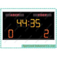 Cheap Electronic Soccer Scoreboard With Team Name And Timer For Football Game for sale