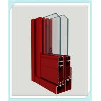 Cheap Lightweight Window Aluminum Profile Corrosion Resistance Red Color Smooth Surface for sale