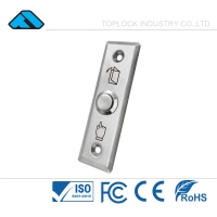 China NO/NC Stainless Steel Door Push Button Switch Door Entrance, Easy Installation with Electric Rim Lock Magnetic Lock on sale