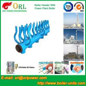 Buy cheap SA213T22 Furnace Water Header / Steam Boiler Header TUV Certification from wholesalers