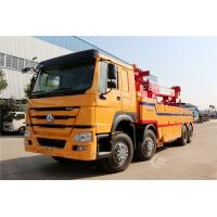Cheap Sinotruk Howo 40 Tons Flatbed Recovery Truck Heavy Duty 8X4 371HP Customized Color for sale
