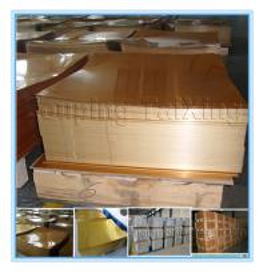 AA8011  golden  aluminium sheet for pp caps