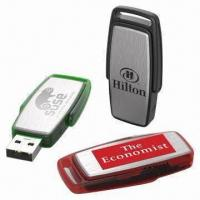 Cheap USB Flash Disks with 1/2/4/8/16/32GB Capacity, Customized Logos Welcomed, CE/FCC/RoHS Marks for sale