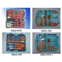 Cheap BBQ tool set with wooden handle in plastic case for sale