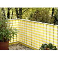 Cheap Hdpe Yellow And White Balcony Shade Net With UV Resistant OEM for sale