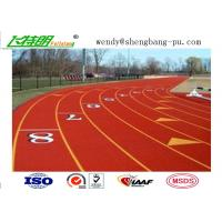 Cheap Full PU Glue Rubber Running Track Plus SBR EPDM Particle Mixture For Stdaium School Playground wholesale
