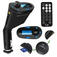 China LCD kit Car MP3 Player Wireless FM Transmitter With USB SD MMC Slot remote Blue on sale