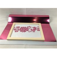 Cheap Pink Color Metallic Transfer Film Good Color Saturation With ISO 9001 Certification for sale