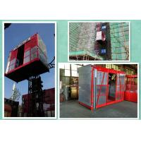 High Speed Construction Hoist Elevator Lifts 2000kg Capacity Double Cages