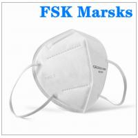 Cheap Foldable Earloop KN95 Face Mask 5 Layer Against Non Oily Suspended Particles for sale