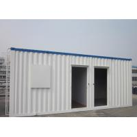 Cheap Easy Transportation Prefab Steel Houses With Fiber Glass Wool Insulation for sale