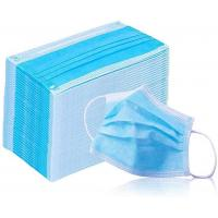 Cheap Breathable 3 Ply Non Woven Face Mask Bfe 95 - 99.9 High Efficient Filtration for sale