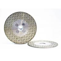 Cheap Steel Substrate Electroplated Diamond Discs High Working Efficiency for sale