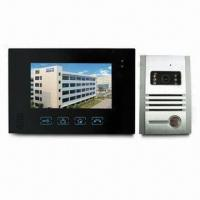 Cheap Touch Button 7-inch Screen Video Door Phone with Superthin Design, Available in Black for sale