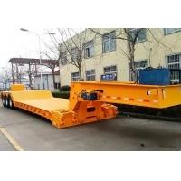 Cheap Tri Axle Front Loading Lowboy Gooseneck Trailers With Power Station for sale