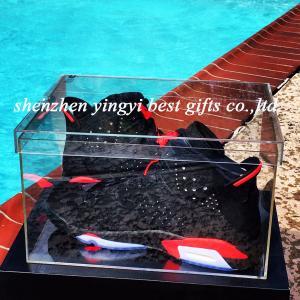 China clear plexiglass shoe box on sale