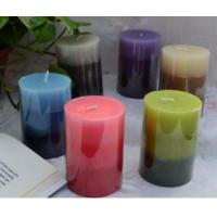 Cheap Layered Color Pillar Candle for sale