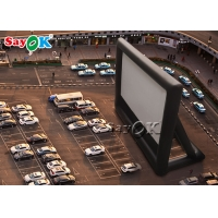 China Parking Lot Pvc White Inflatable Movie Theater Screen on sale