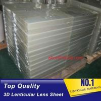 Cheap PET 51X71CM 75LPI 0.45mm Lenticular Sheet with super transpancy for making Lenticular 3D Cards by UV printer in Spain for sale