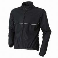 Cheap Bicycle jacket with EN471 reflective piping for sale