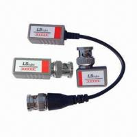 Cheap 1-channel Passive RJ45 UTP Port Video Baluns with 400m Color and 600m B/W Transmission Distance for sale