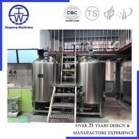 Cheap CE Certificate Micro Beer Equipment , Beer Manufacturing Equipment 3 Years Warranty for sale