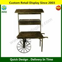 Cheap Wood Cart on Wheels YM6-010 for sale
