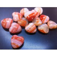 Cheap agate banded heart--Natural craystal for sale