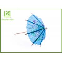 Blue Umbrella Decorative Food Toothpicks For Fruit Decoration Free Sample